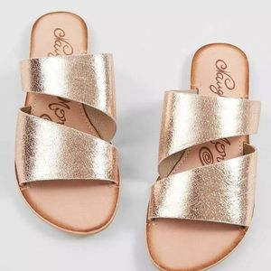 Naughty Monkey Spirit Rose Gold leather Sandals 9